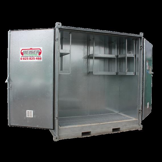 """Isoliertier lagercontainer """"sicherheit + """", Hoch, 2 Paletten"""