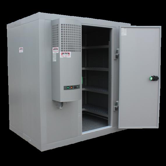 10,18 m3 Kühlraum mit Regalen (-4° / +4°) im Bausatz geliefert