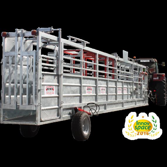 Automatisierter fangflur 8,50 m mit hydraulischem Achsen-Hebesystem und Wiegekäfig