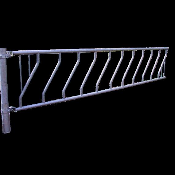 Freier Zugang mit Schräggitter 8 Plätze 4 meters
