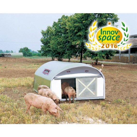 Isolierte Schweinehütte