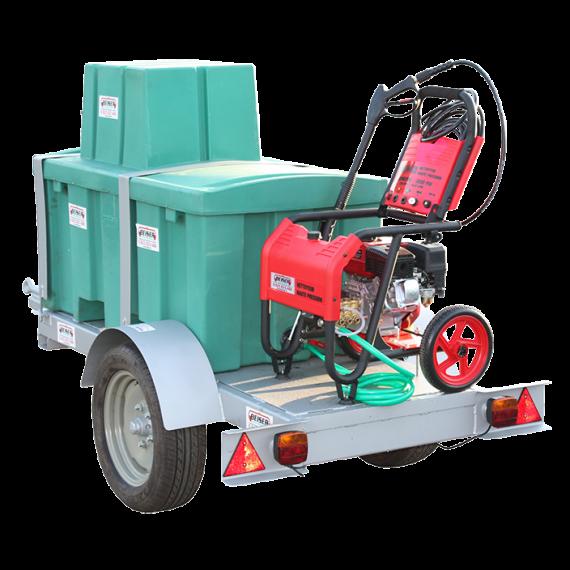 Hochdruckreiniger-Pack Benzin mit 300 l-Tank auf Agrargestell