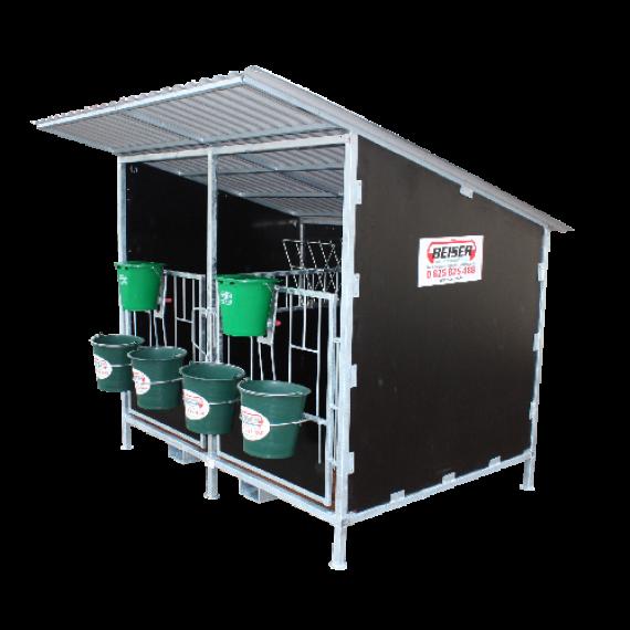 Kälberbox mit Dach (2 Kälber Modell)