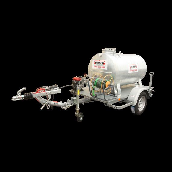 Verzinkter 1000 l-Tank auf Straßenfahrgestell