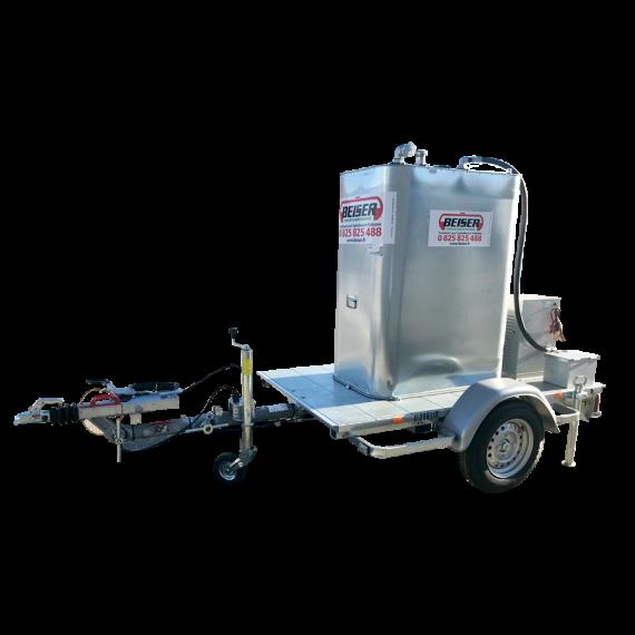 Kraftstofftank VET 1000 L auf Fahrgestell