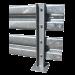 Gebäudeschutzplanken pro laufendem Meter - Satz von 2 quadratischen Planken