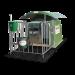 Beiser Environnement - Niche 1 veau polyester 4 étoiles toit coulissant et caillebotis (niche + parc)