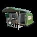 Beiser Environnement - Niche 1 veau polyester 4 étoiles toit coulissant et caillebotis (niche)