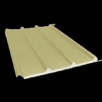 Tôle nervurée 45-333-1000 isolée sandwich 100 mm, jaune sable RAL1015, 4 m