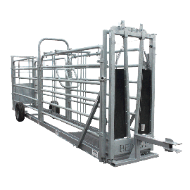 Couloir de contention en kit sur roue avec anti recul