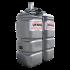 """Beiser Environnement - Station citerne fuel double paroi en plastique PEHD sans odeur, 750 litres, pompe 220 V avec limiteur de remplissage 2"""""""