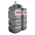"""Beiser Environnement - Station citerne fuel double paroi en plastique PEHD sans odeur, 750 litres, pompe 12V avec limiteur de remplissage 2"""""""