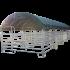 Beiser Environnement - Modulabri avec barrières texas 12x4 m