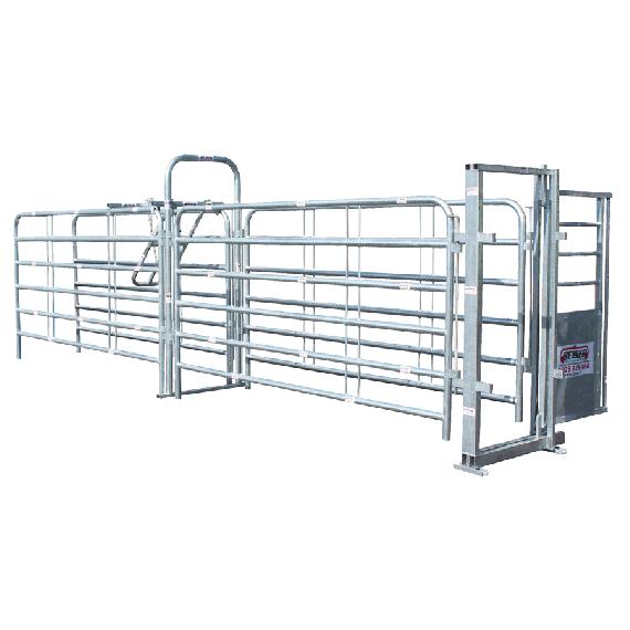 Couloir à bovin avec porte arrière et antirecul