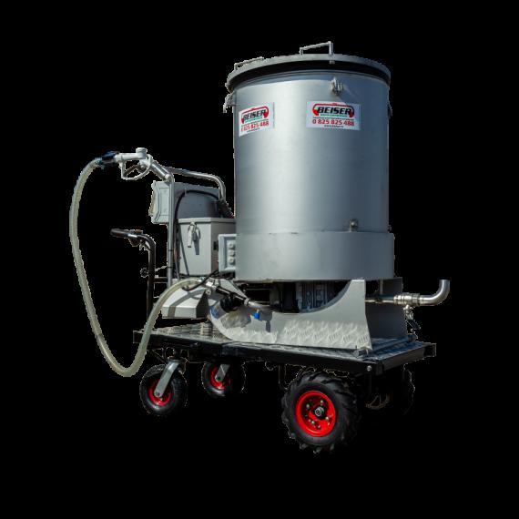 Chariot mélangeur/distributeur motorisé 300 litres inox
