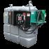 Doppelwandige Tankstation aus HDPE geruchlos 2 000 L mit Sicherheitsschrank - Modell Komfort +