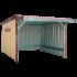 Beiser Environnement - Abri en kit bardé 5 x 5 m - Vue dd'ensemble