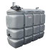 Doppelwandige Tankstation aus HDPE geruchlos 2 000 L mit Kraftstoffpumpe 24 V