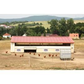 Verplaatsbaar hok voor pluimvee Ongemonteerd 90 m²