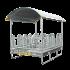 Beiser Environnement - Ratelier à arceaux sécurisé, 2 x 2 m, 12 places