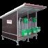 Beiser Environnement - Box à veaux 2 places avec toit isolé + bardage isolé et paroi PVC - Côté
