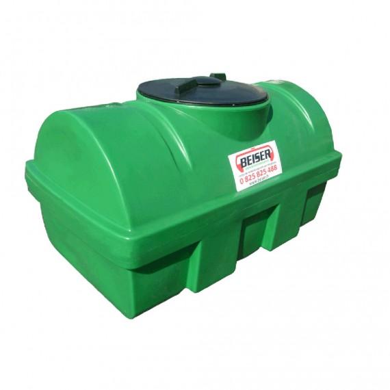 Groene HDPE-tank 300 liter Soortelijk gewicht max. 1300 kg/m3