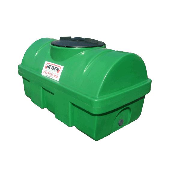 Groene HDPE-tank 500 liter Soortelijk gewicht max. 1300 kg/m3