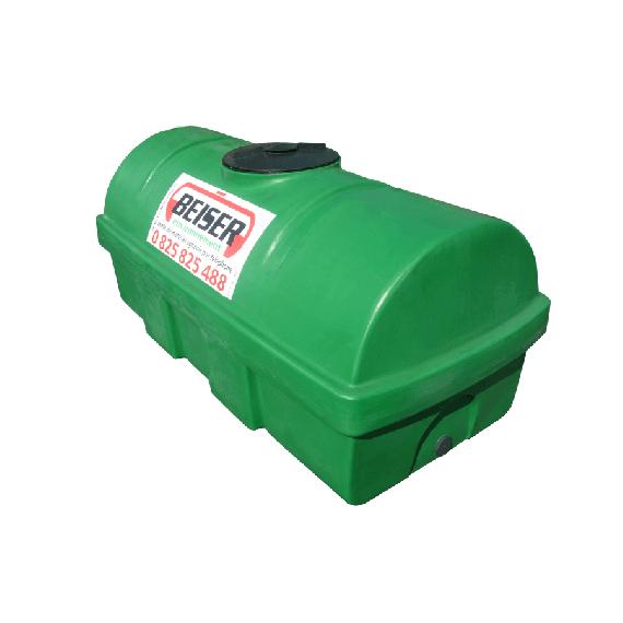 Groene HDPE-tank 1200 liter Soortelijk gewicht max. 1300 kg/m3