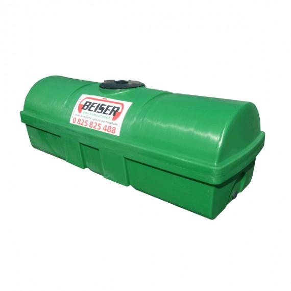 Groene HDPE-tank 1700 liter Soortelijk gewicht max. 1300 kg/m3