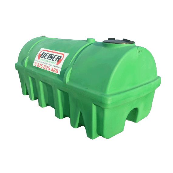 Groene HDPE-tank 2750 liter Soortelijk gewicht max. 1300 kg/m3