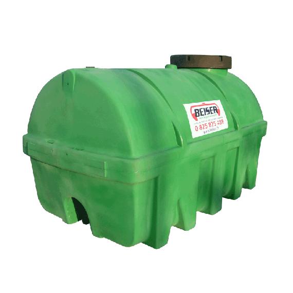 Groene HDPE-tank 5000 liter Soortelijk gewicht max. 1300 kg/m3