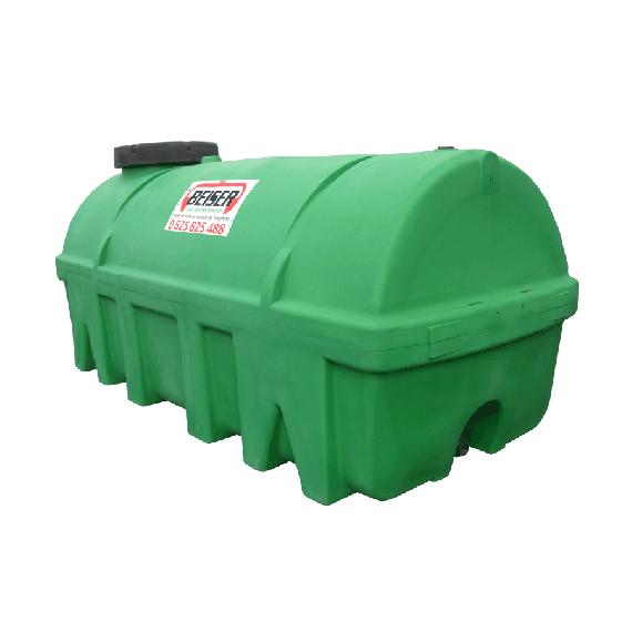 Groene HDPE-tank 10000 liter Soortelijk gewicht max. 1300 kg/m3