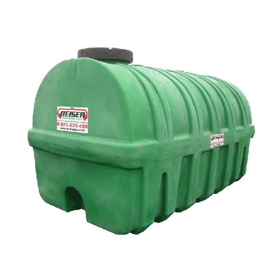 Groene HDPE-tank 15000 liter Soortelijk gewicht max. 1300 kg/m3
