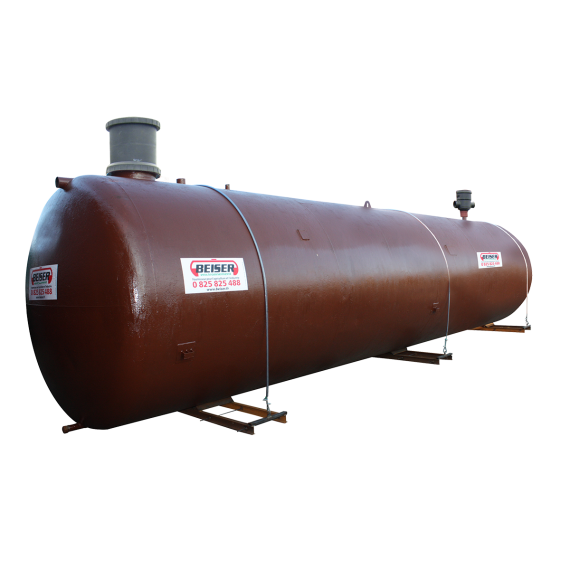 Enkelwandige ondergrondse watertank 50.000 l (gereconditioneerde) met pomp