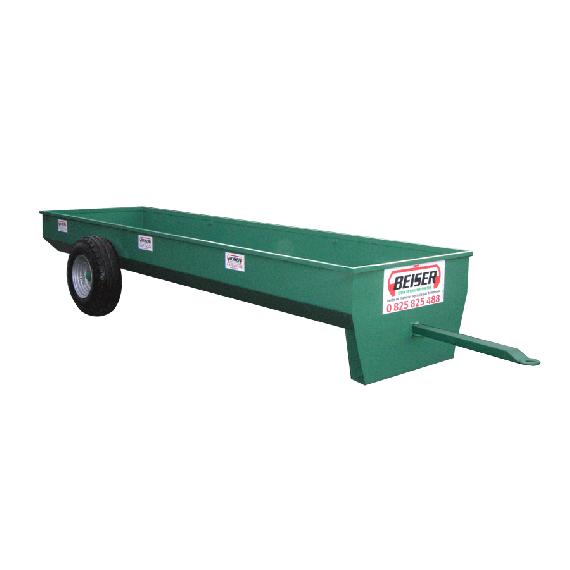 Voerbak op wielen 2 m, Ø 1300 mm