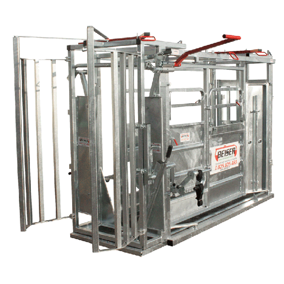 Koeienbox Met versmalsysteem en guillotine-poort