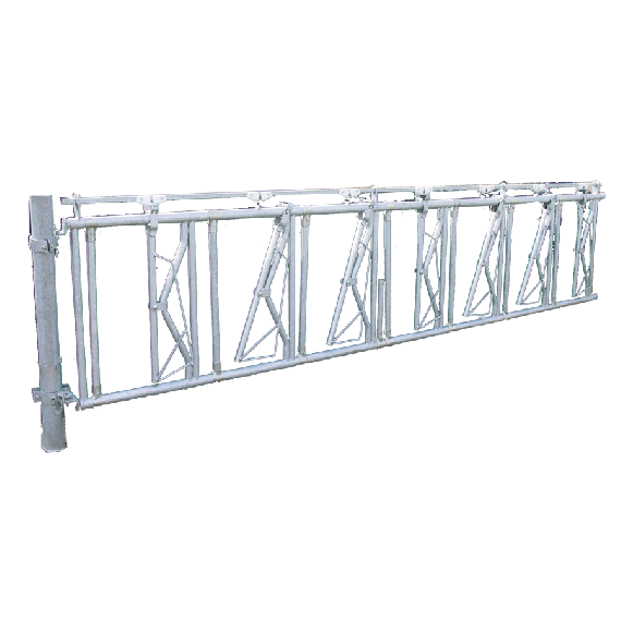 Voerhek met beveiliging tegen ophanging, 3 m, 4 Plaatsen