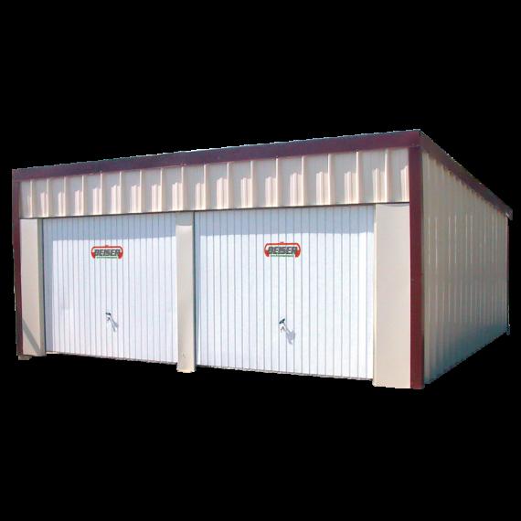 Dubbele garage 1 dakvlak In set