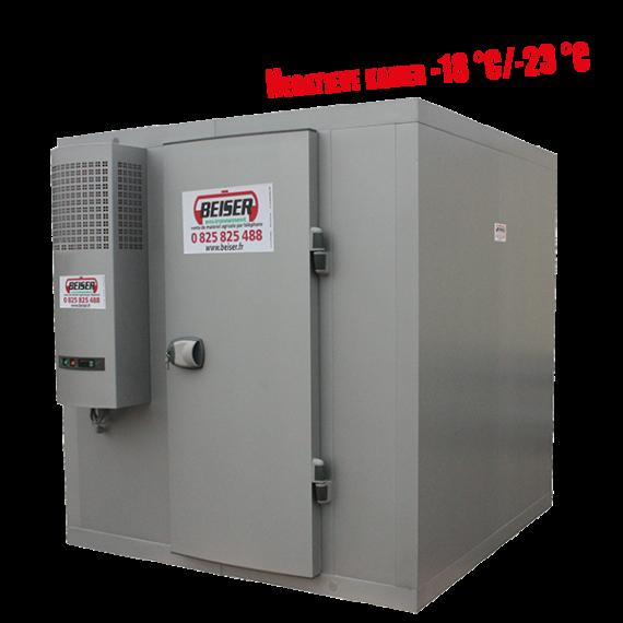 Koude kamer 6,31 m³ met rek  (-18° / -23°) geleverd in kit