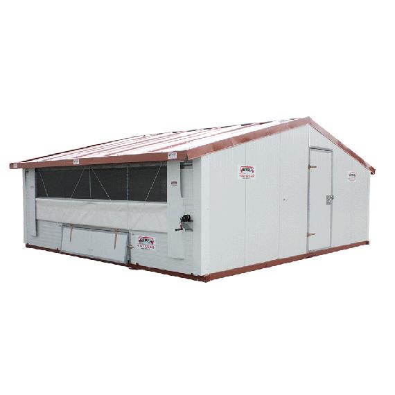 Verplaatsbaar hok voor pluimvee Ongemonteerd 30 m²