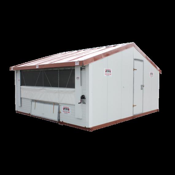 Verplaatsbaar hok voor pluimvee Ongemonteerd 12 m²