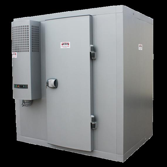 Koude kamer 8,59 m³ met rek (-4 °C/+4 °C) geleverd in kit
