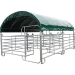 Overdekte mobiele kooi met Texas-hekken 6 m x 5 m en dak van zeildoek