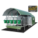 Beiser Environnement - Niche 5 veaux 4 étoiles isolée complète toit coulissant caillebotis (niche+parc)