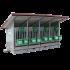 Beiser Environnement - Box à veaux 2 ou 4 places avec bac de rétention, toit isolé et parois PVC - Côté