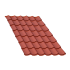 Beiser Environnement - Tôle tuile terra cotta, 6,5 m
