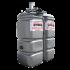 """Beiser Environnement - Station citerne fuel double paroi en plastique PEHD sans odeur, 750 litres, pompe 24V avec limiteur de remplissage 2"""""""